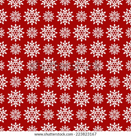 Christmas seamless background with snowflakes. Vector illustration. - stock vector