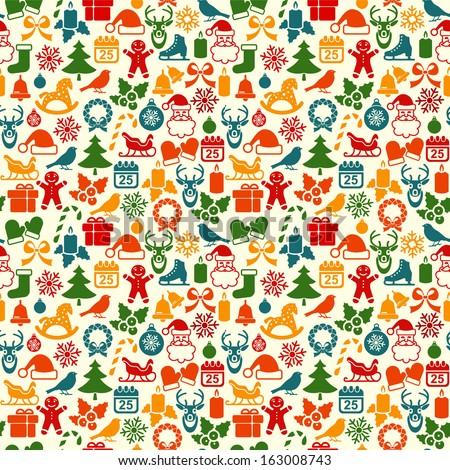 Christmas Seamless backgrounds  - stock vector