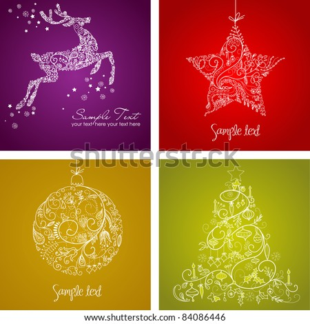 Christmas Set - stock vector