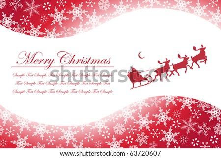Christmas Snowflakes and Santa Claus - stock vector