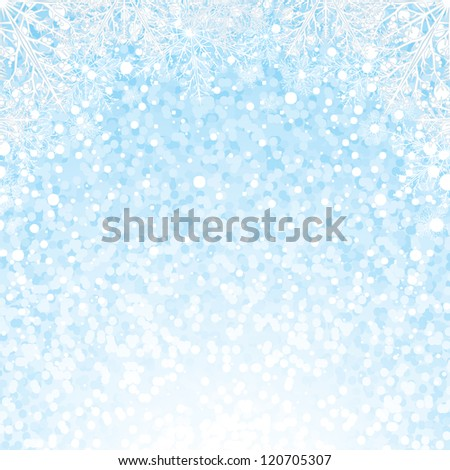 Christmas Snowflakes Background. Vector - stock vector