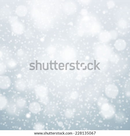 Christmas snowflakes background vector blue light abstract christmas - stock vector