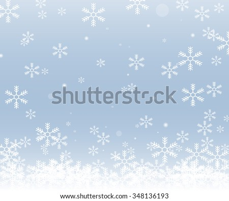 Christmas snowflakes isolated on blue background. Eps 10. Vector illustration - stock vector