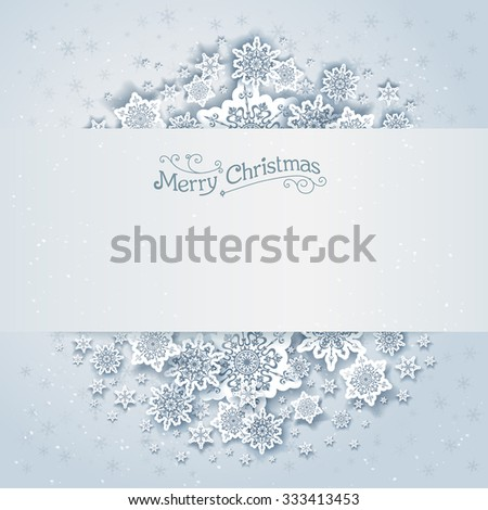 Christmas snowy vector background. Holiday design for card, banner, invitation, leaflet and so on. - stock vector