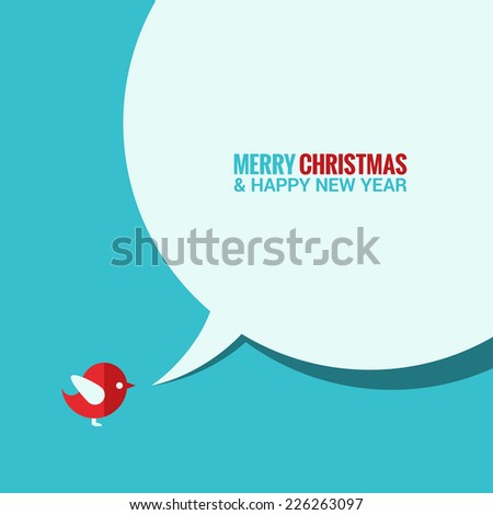 christmas social media concept background - stock vector
