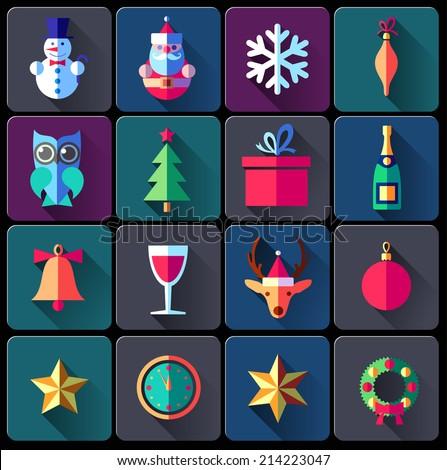 christmas symbols & icons - stock vector