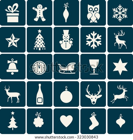 christmas symbols & icons - stock vector