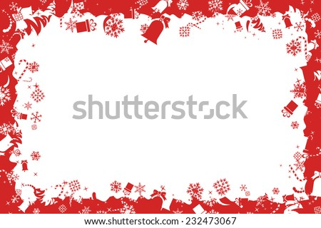 Christmas Toy Frame - stock vector