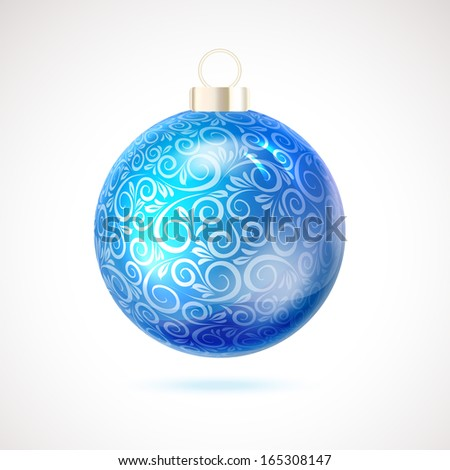 Christmas toy isolated on white background. Vector illustration. - stock vector