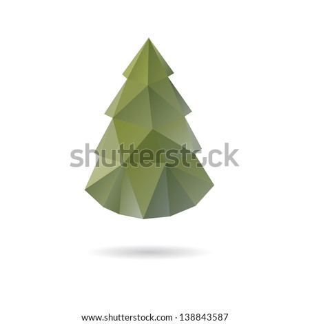 Christmas tree abstract isolated on a white backgrounds - stock vector