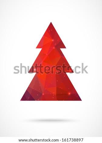 Christmas tree background. Vector illustration. Merry Christmas - stock vector