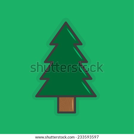 Christmas tree, Christmas Icon - stock vector