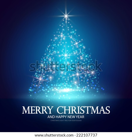Christmas tree from light for your business website. Vector illustration - stock vector
