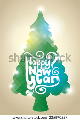 Christmas tree. Happy New Year. - stock vector