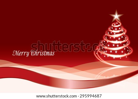 Christmas tree Merry Christmas - stock vector