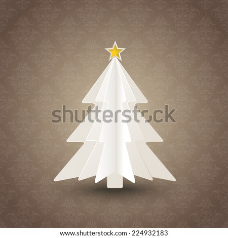 Christmas tree on the green background. Eps 10 vector file. - stock vector