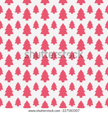 christmas tree pattern - stock vector