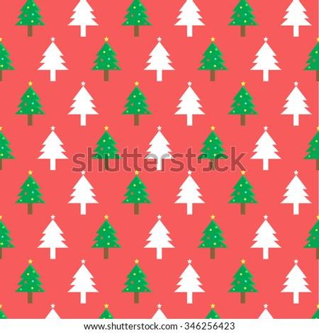 Christmas tree pattern.vector - stock vector