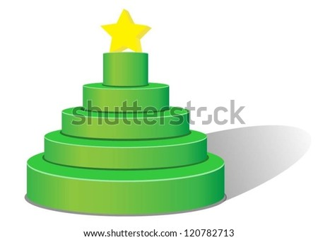christmas tree pyramid. Vector - stock vector