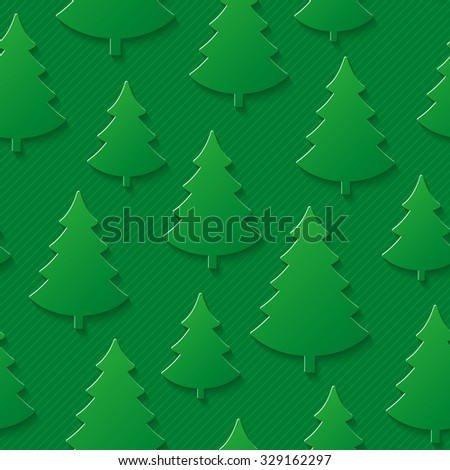 Christmas tree seamless pattern. Vector EPS10. - stock vector