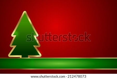 Christmas Tree with background. Vector Illustration/ EPS 10. Easy to edit. Perfect for invitations or announcements. - stock vector