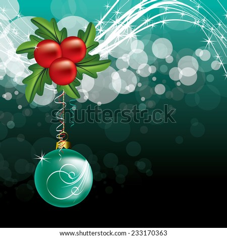 Christmas Vector Background. - stock vector