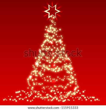 Christmas vector card - stock vector