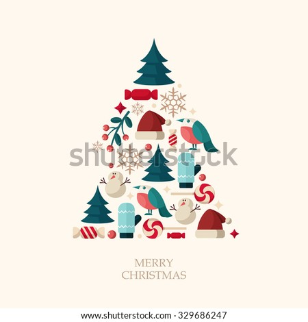 Christmas vector icons - stock vector