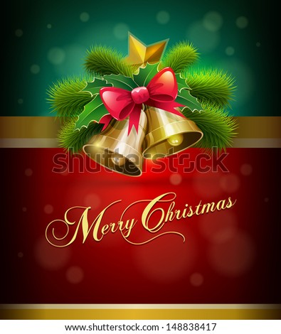 Christmas vector illustration. Elements are layered separately in vector file. - stock vector