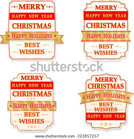 Christmas vector labels - stock vector