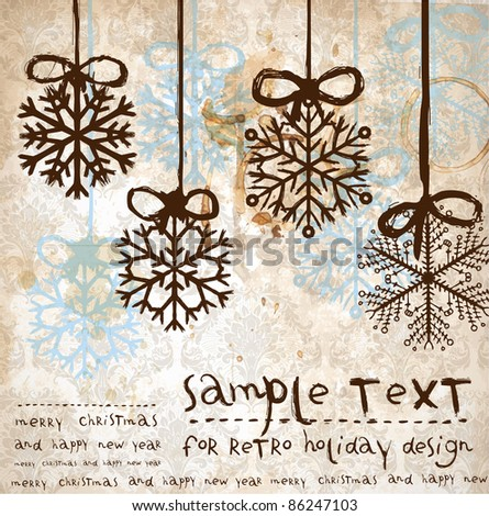 Christmas vintage background for xmas design - stock vector