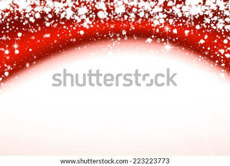 Christmas wavy background. Winter sparkles over red silk textile. Vector eps10. - stock vector
