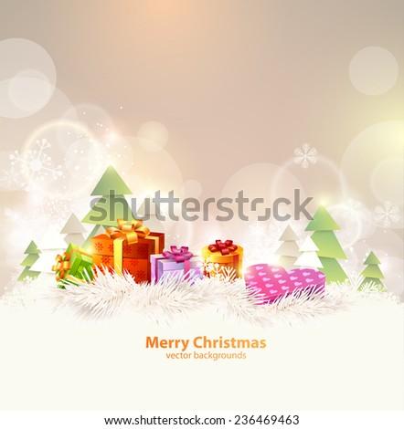 Christmas winter  background  - stock vector