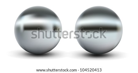Chrome Balls - stock vector