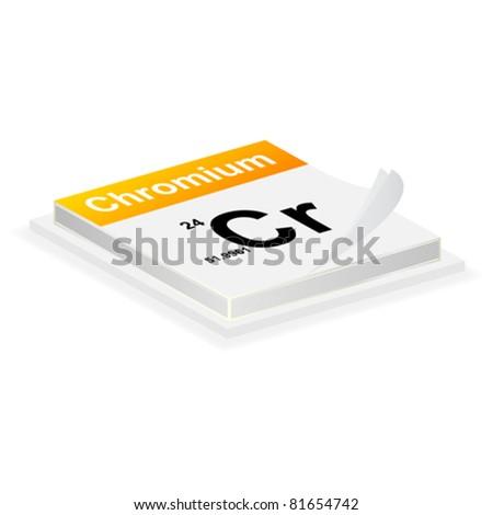 chromium button - stock vector