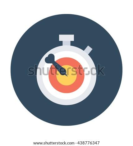 Chronometer Vector Icon - stock vector