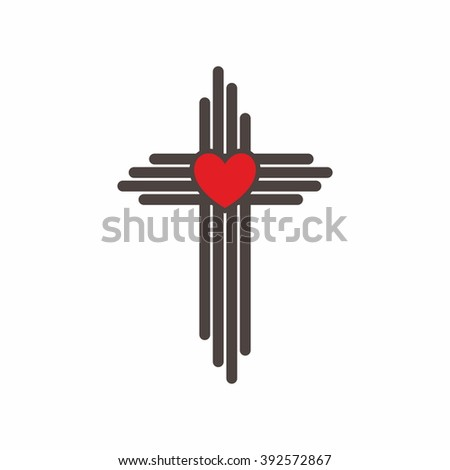 Church logo. Christian symbols. The Cross of Jesus Christ - stock vector