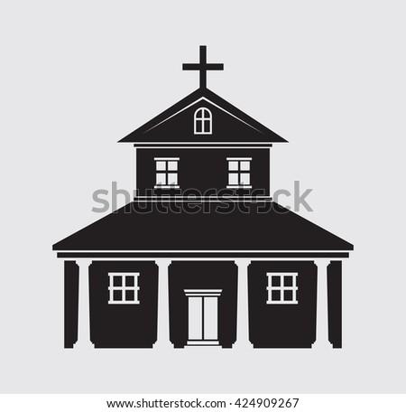 Church vector icon - stock vector