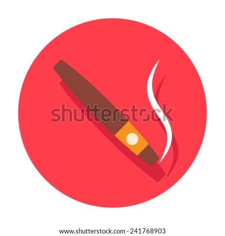 cigar icon - stock vector