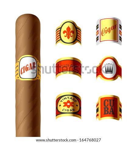 Cigar labels. Vector. - stock vector