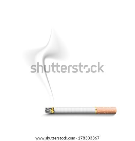 cigarette smoke - stock vector