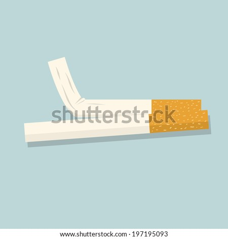 Cigarette. Vector illustration - stock vector