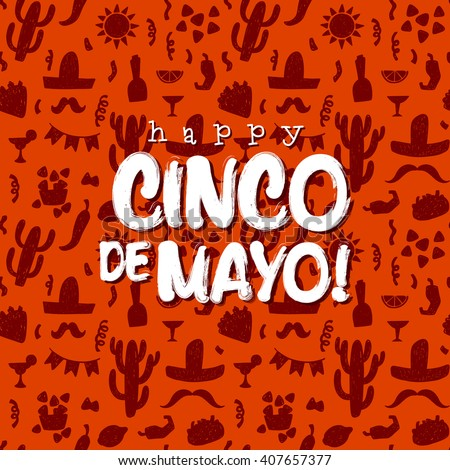 Cinco De Mayo background - stock vector