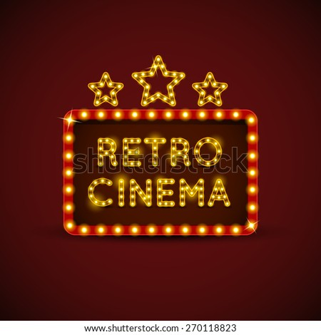 Cinema Billboard - stock vector