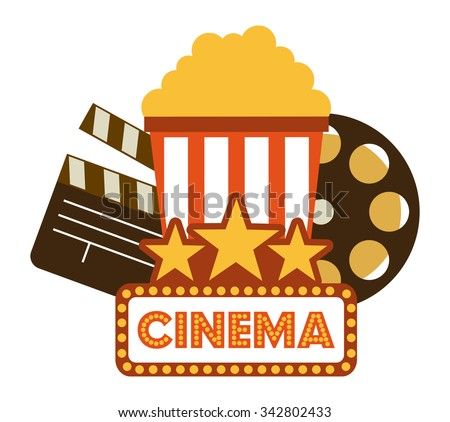 Cinema concept with movies icons design, vector illustration 10 eps graphic - stock vector