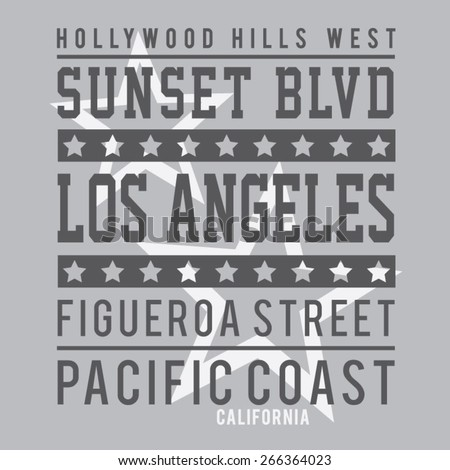 Cinema Hollywood typography, t-shirt graphics, vectors - stock vector