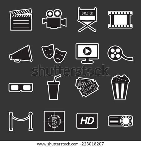 cinema icon - stock vector