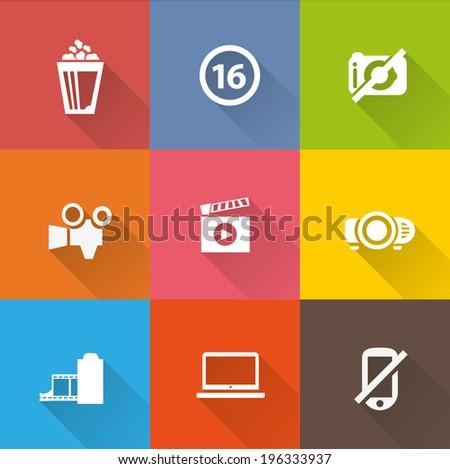 Cinema icon set 1 - stock vector