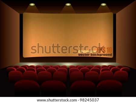 cinema interior background - stock vector