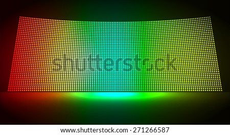 cinema screen for movie presentation. Light Abstract Technology background for computer graphic website internet and business. dark red blue yellow background. Pixel, mosaic, table. point, spot, dot - stock vector